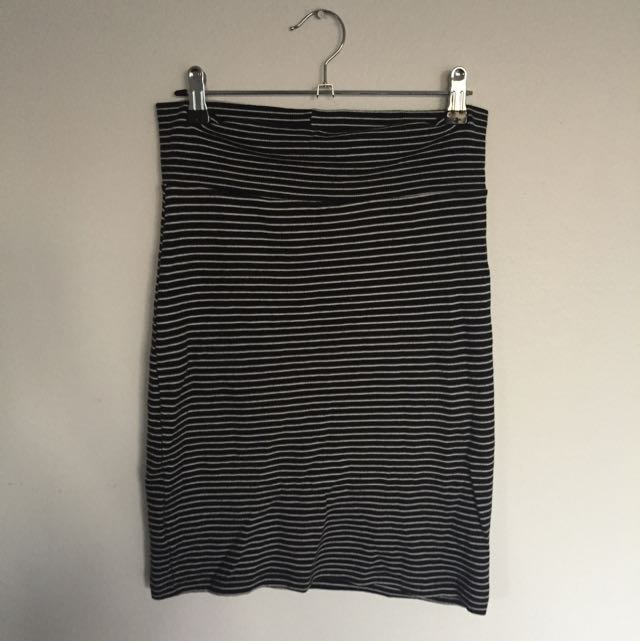 American Apparel striped  skirt