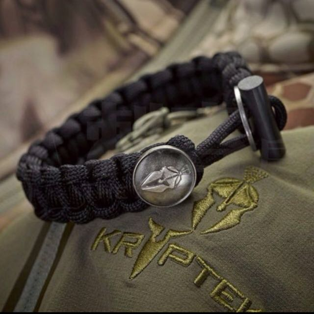 Bnip Spartan Tactical Survival Bracelet Black Sand Green