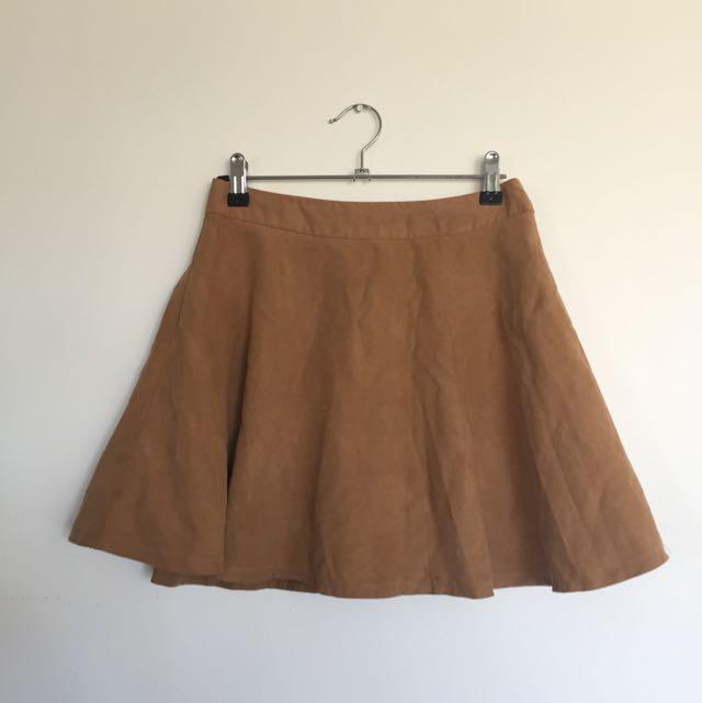 Camel Skater Skirt