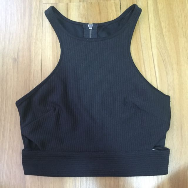 Crop Top With Cut Outs
