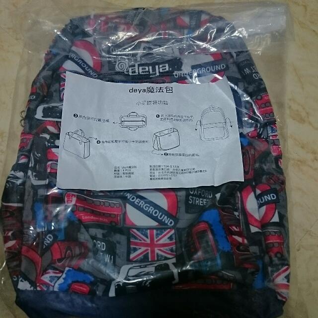 Deya探索系列牛津3合1折疊後背包 收納 手提包