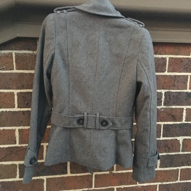 Double Breasted Charcoal Jacket