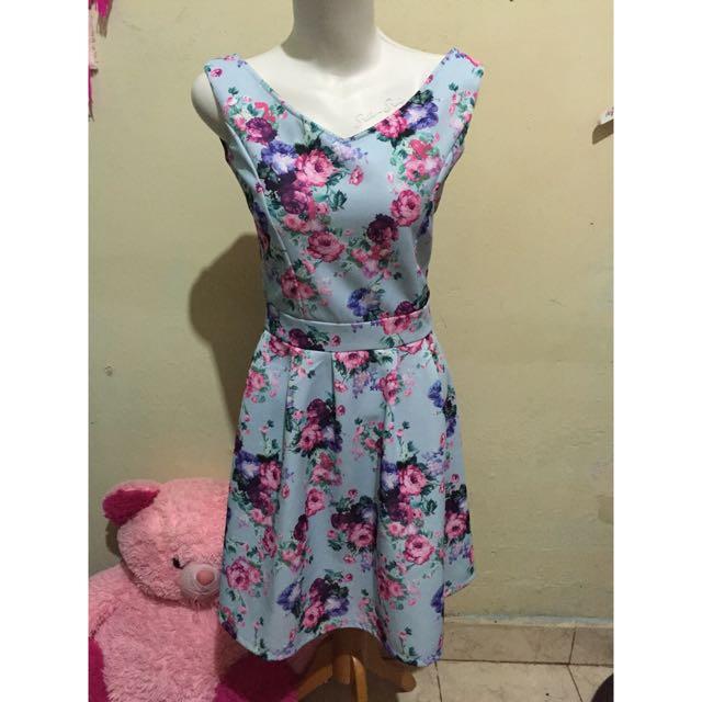 Flower Blue Dress