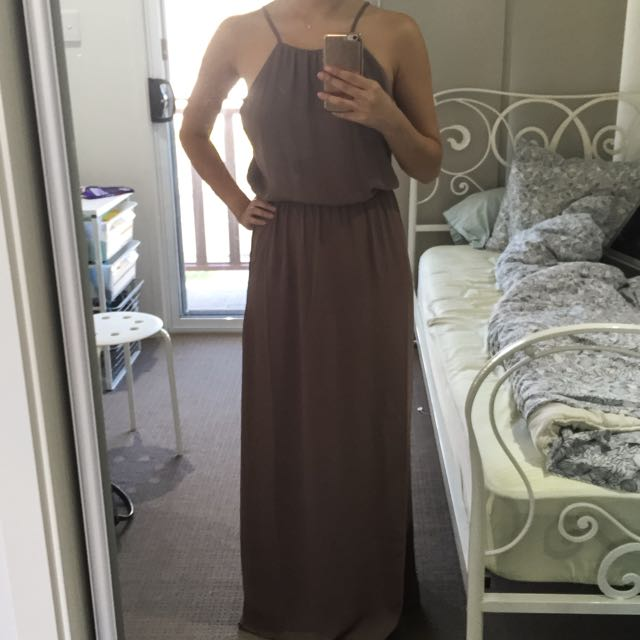 NEW FOREVER 21 Taupe Maxi Dress