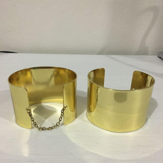 Golden Cuffs | Pair