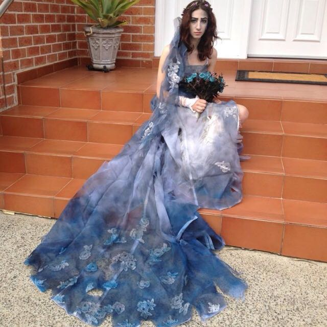 Handmade Corpse Bride Cosplay Outfit