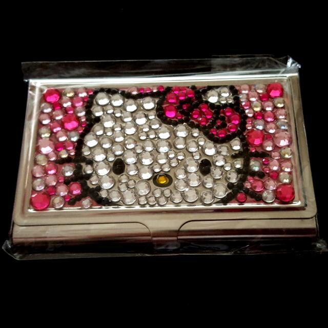 HELLO  Kitty 鑲鑽名片盒(破盤出清價)