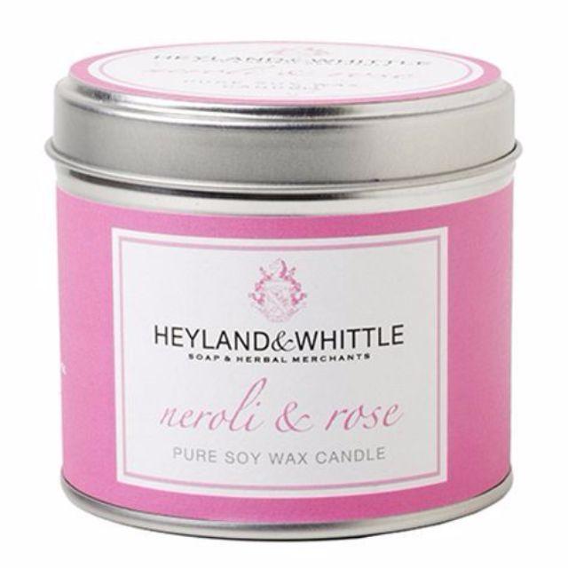 H&W 英倫薇朵 橙花玫瑰香氛燭罐 130g Heyland Whittle 百貨專櫃購入