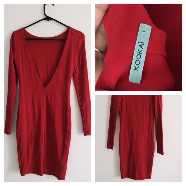 KOOKAI RED LOW BACK DRESS