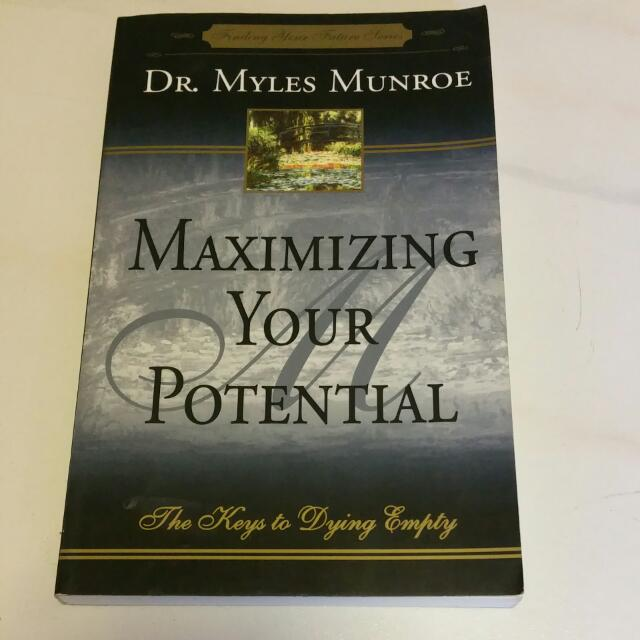 releasing your potential by dr myles Dr myles munroe born (1954-04-20 (myles jr) and daughter releasing your potential awards in 1998, dr munroe was awarded the silver jubilee award for.