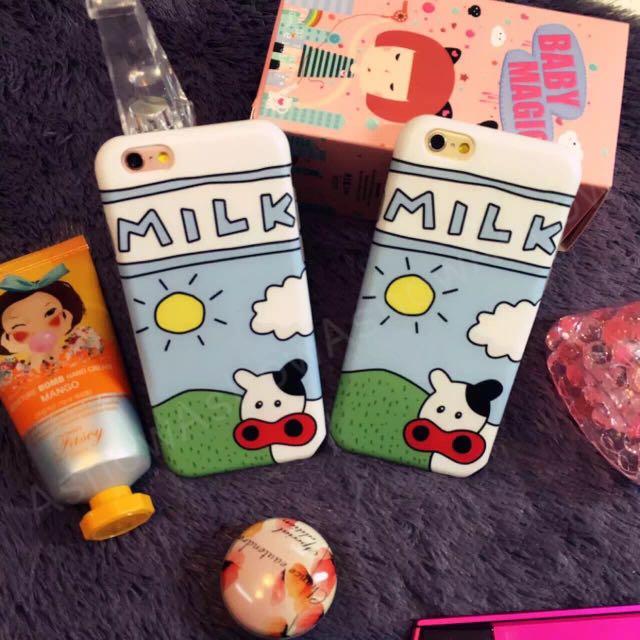 Milk 奶牛 乳牛 農場 iPhone 6s Plus 手機殼 保護套