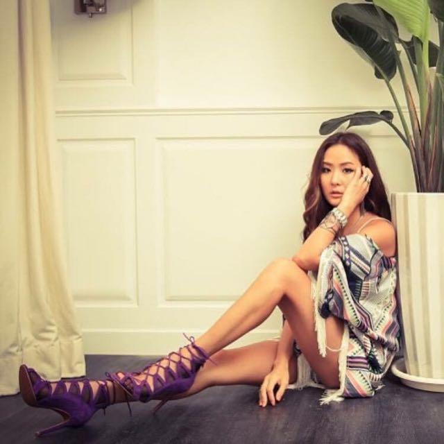MISS SOFI x 孫芸芸 羊絨綁帶鏤空跟鞋 陳泱瑾 Grace