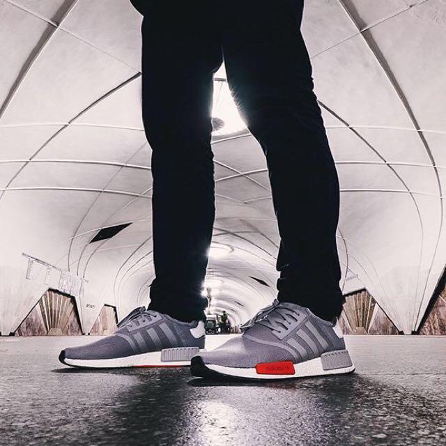 NMD灰紅 Adidas 球鞋