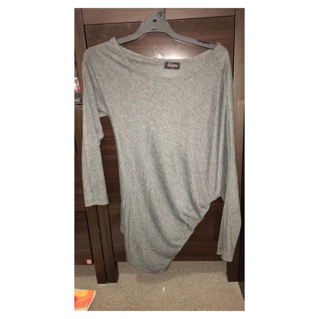 *ON HOLD* Off the Shoulder Grey Top