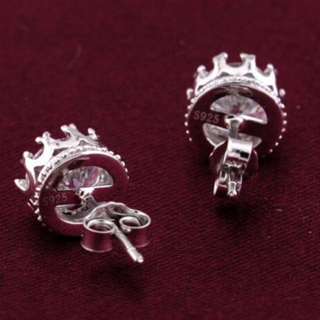 engagement item your design mounting pair rnd own studs jewelry of earrings fine scallop stg w jewellery diamond basket white gold