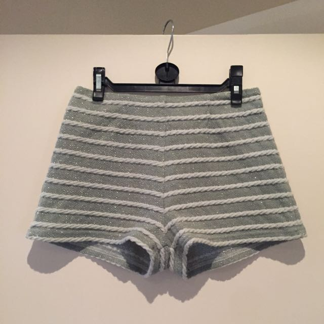 Striped Silver Disco Shorts