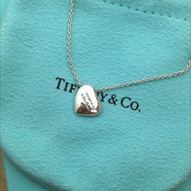 正品Tiffany&co 心形墜項鍊