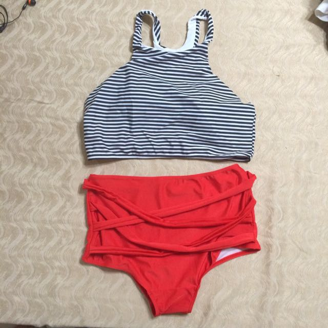 Womens High Waisted Bikini Set