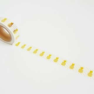 Gold Foil Pineapple Washi Tape Roll
