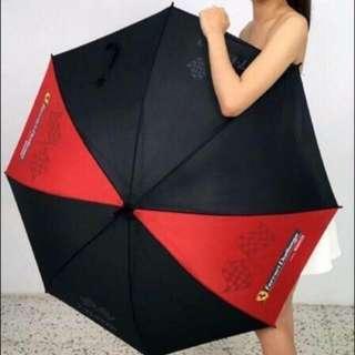 7- 11法拉利雨傘 紅黑一支