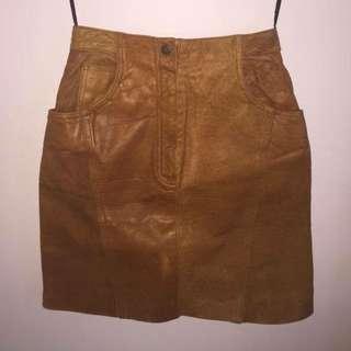 Genuine Leather Skirt