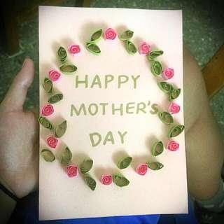 客製 卡片 純手工 母親節 情人節 父親節 生日