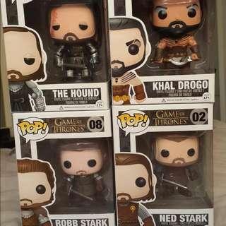 Game Of Thrones Pop Figurines Vinyl