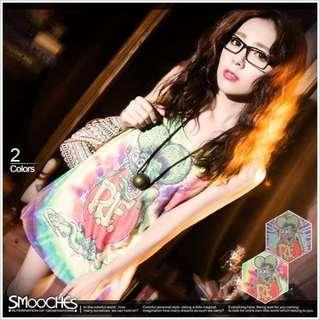 【轉賣】Smooches 渲染彩色美式街頭無袖背心
