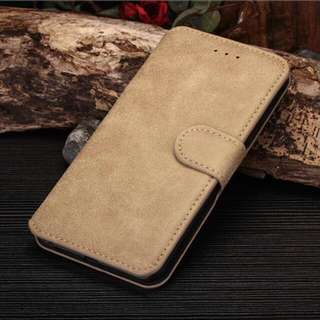 New luxury Leather Stand Case Cover Flip Wallet For iPhone 6/6s (KHAKI)