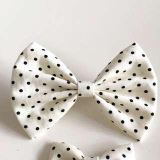 9.5cm Hair Bow Polka Dot