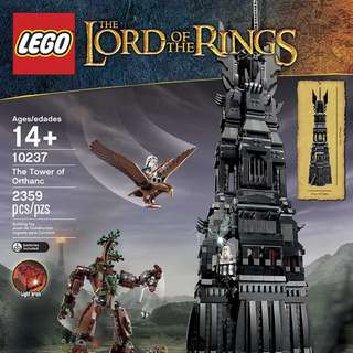 🚚 Lego 10237 Lord Of The Rings. Tower Of Orthanc .Retired Set