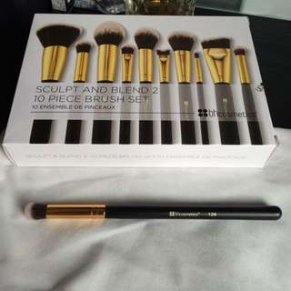 鼻翼毛孔遮瑕專用-Bh Cosmetics 129 Small Round Blending Brush 小粉底刷