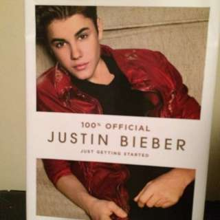 Justin Bieber 100% Official 2012 Book 'just Getting Started'