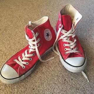 Cherry Red Converse