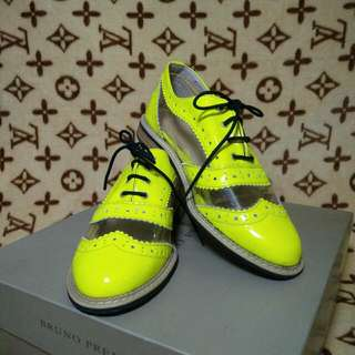 Neon Yellow Oxford