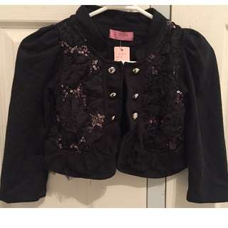 Girl black jacket