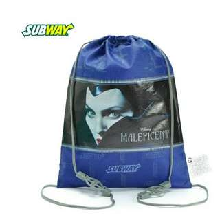 【isHe❦】Subway環保防塵袋 抽繩袋 旅行收納袋(藍色)