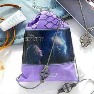 【isHe❦】Subway環保防塵袋 抽繩袋 旅行收納袋(紫色)