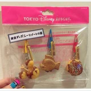 迪士尼 絕版吊飾 美人魚 小比目魚 鯛魚燒 米奇 米妮