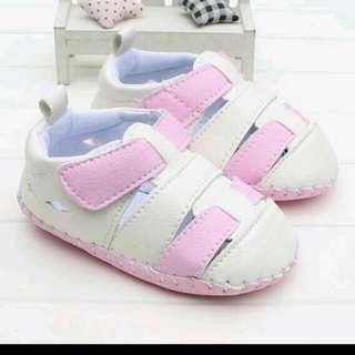 夏款寬楦頭防滑膠片底嬰幼兒學步鞋