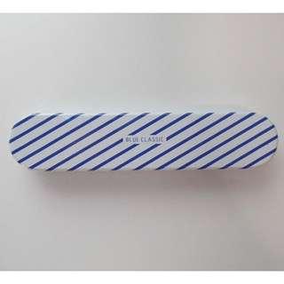 Metal pencil case/chopstick case [STRIPES]