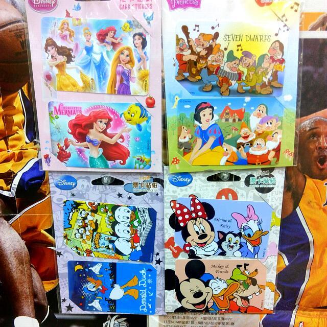 迪士尼系列票卡貼
