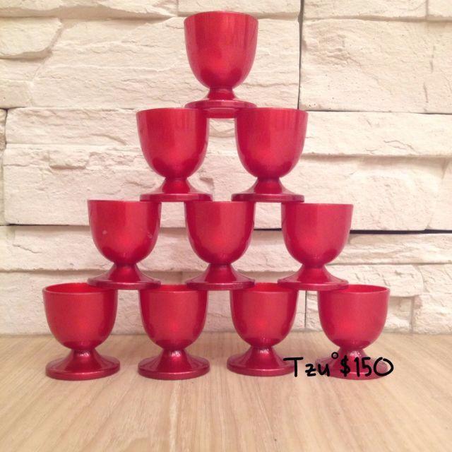 喜氣酒杯(拜拜專用),共十入,二手商品。