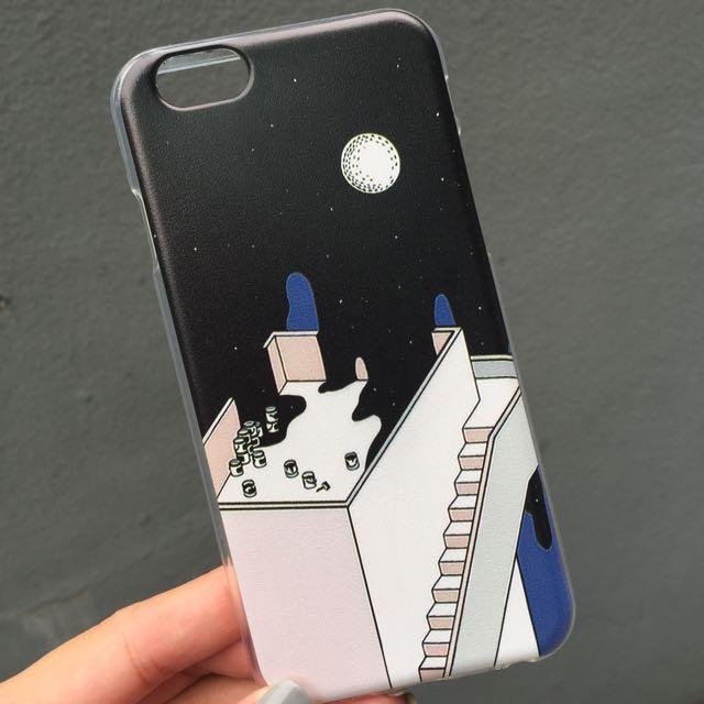 [全新] 韓風 清新 樓梯 幾何圖形 油漆桶 插畫 iphone6/6s 手機殼 全包 軟殼