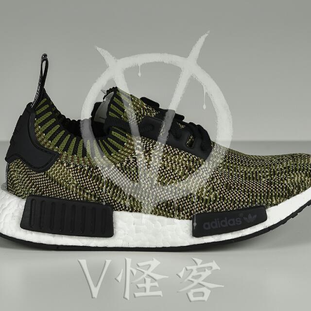 Adidas Original NMD R1 PK Primeknit 橄欖綠迷彩尺寸齊