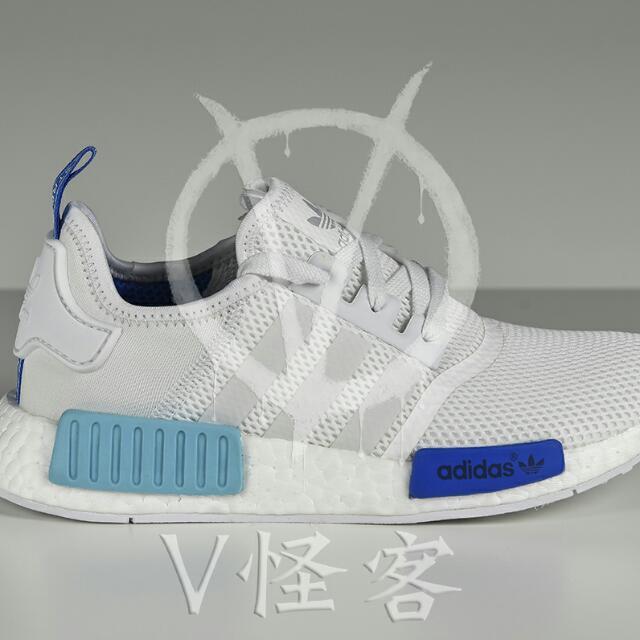 Adidas NMD Runner R1 whithe/blue UK5.5 /24cm 藍白 現貨
