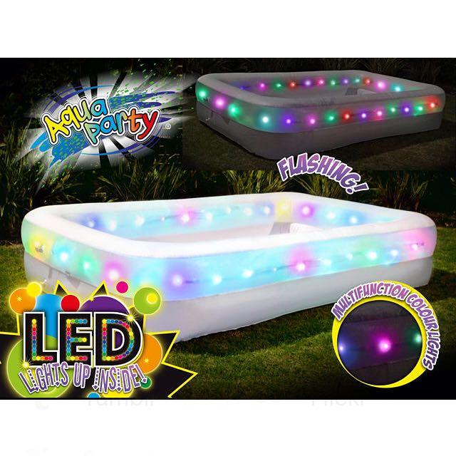 New✨Airtime LED Light Up Flashing Large Family Pool