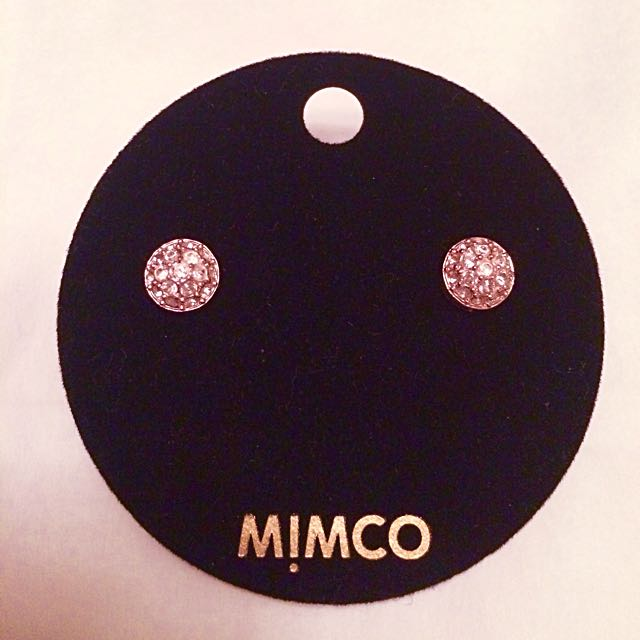 Authentic Mimco Mini Crystal Dome Earrings
