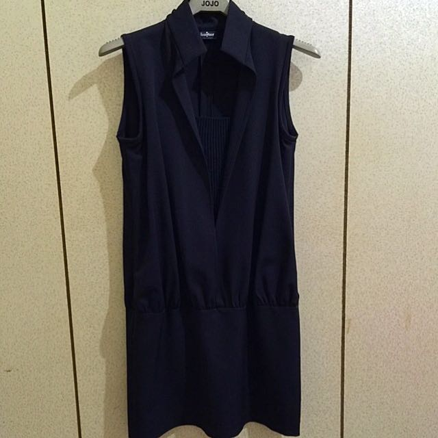 Baiter 個性黑色立領洋裝