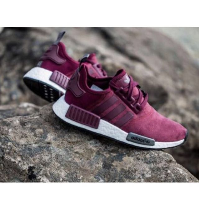 new product 04c9b 4f912 Adidas NMD Runner Suede Maroon, Sports on Carousell